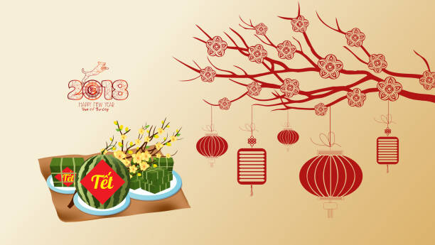 Royalty free vietnamese new year clip art vector images cooked square glutinous rice cake and blossom wallpapers vietnamese new year translation m4hsunfo
