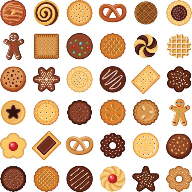 Cookie and biscuit vector art illustration