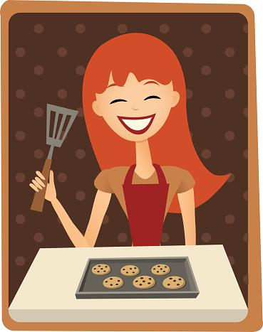 Cookie baking woman