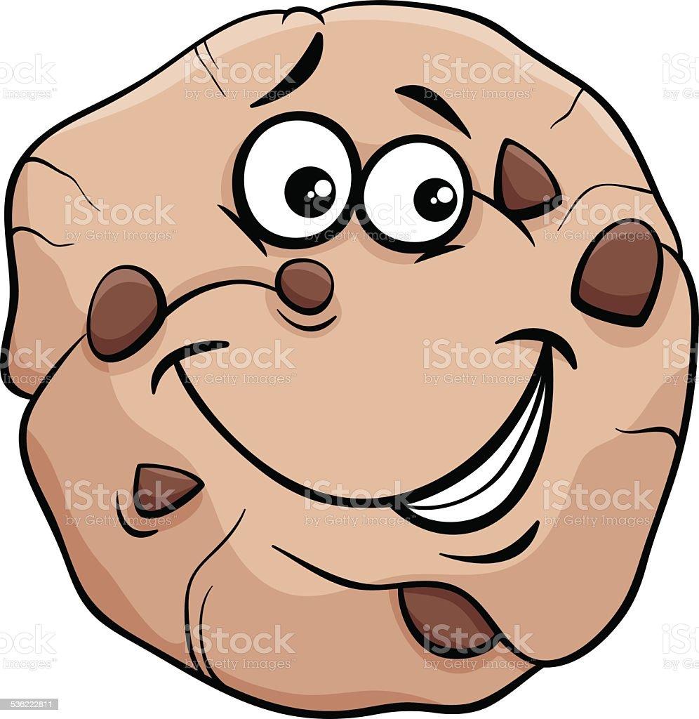 cookie cartoon illustration vector art illustration