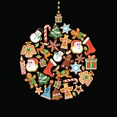 Christmas ornament made with cute Christmas cookies