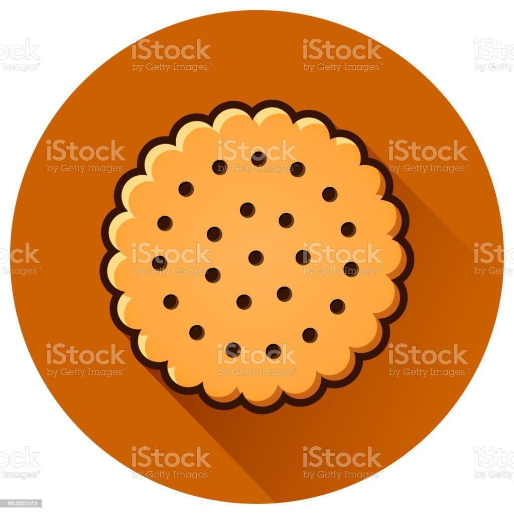 cookie circle flat brown icon royalty-free cookie circle flat brown icon stock vector art & more images of bakery