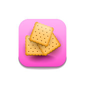 Cookie Cracker Fast Food Logo Vector Symbol Icon Design Style