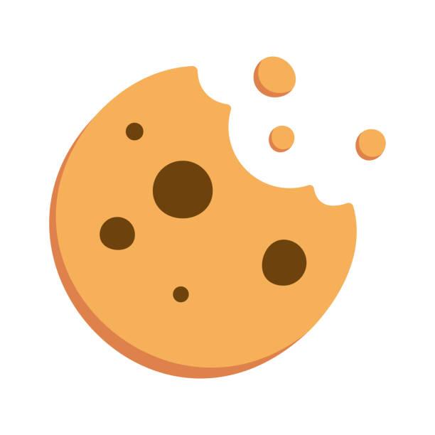 ilustrações de stock, clip art, desenhos animados e ícones de cookie flat design - bolachas