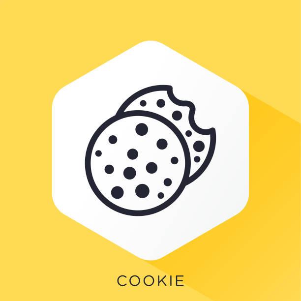ilustrações de stock, clip art, desenhos animados e ícones de cookie icon - bolachas