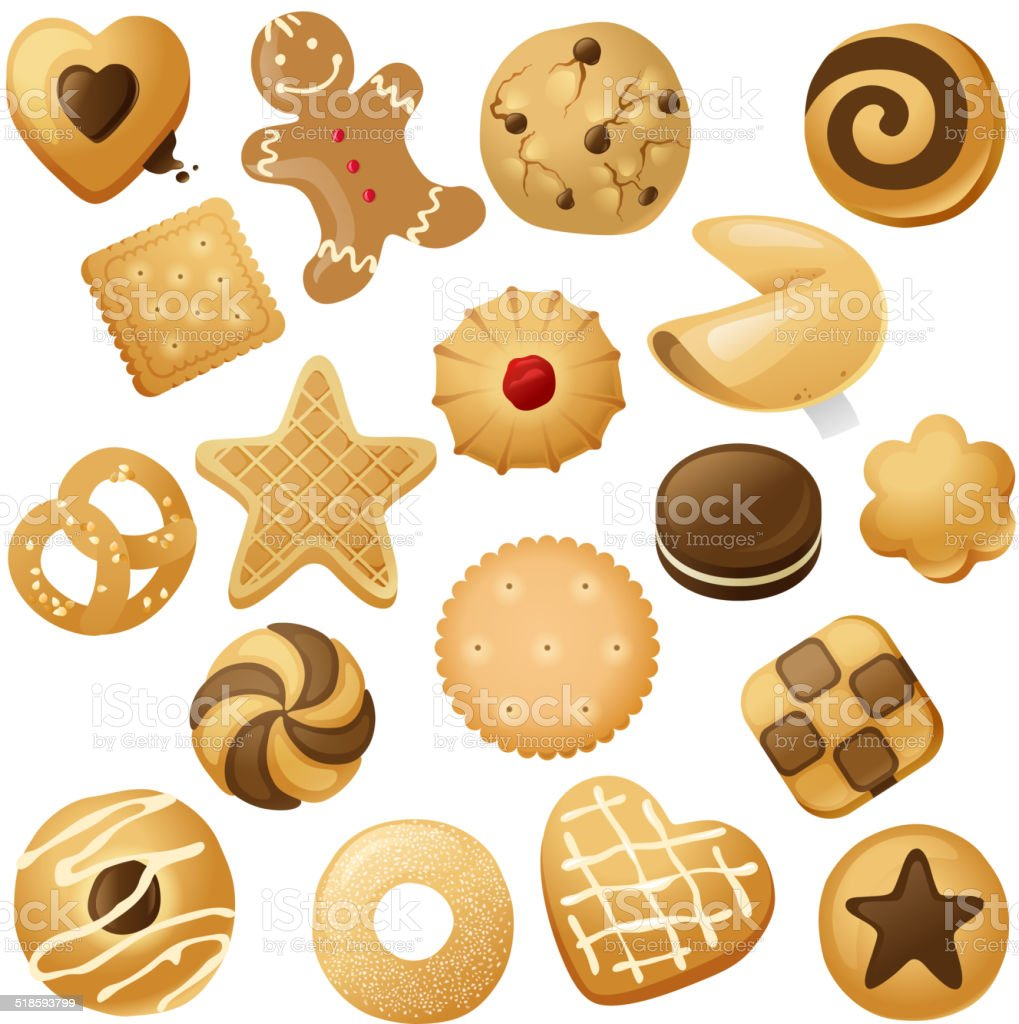 cookie icons vector art illustration