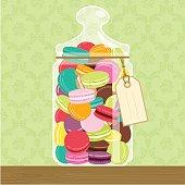 Cookie jar full of macarons