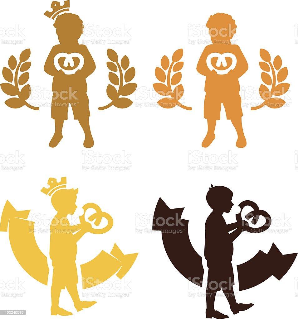 Cookie king kid logo royalty-free stock vector art