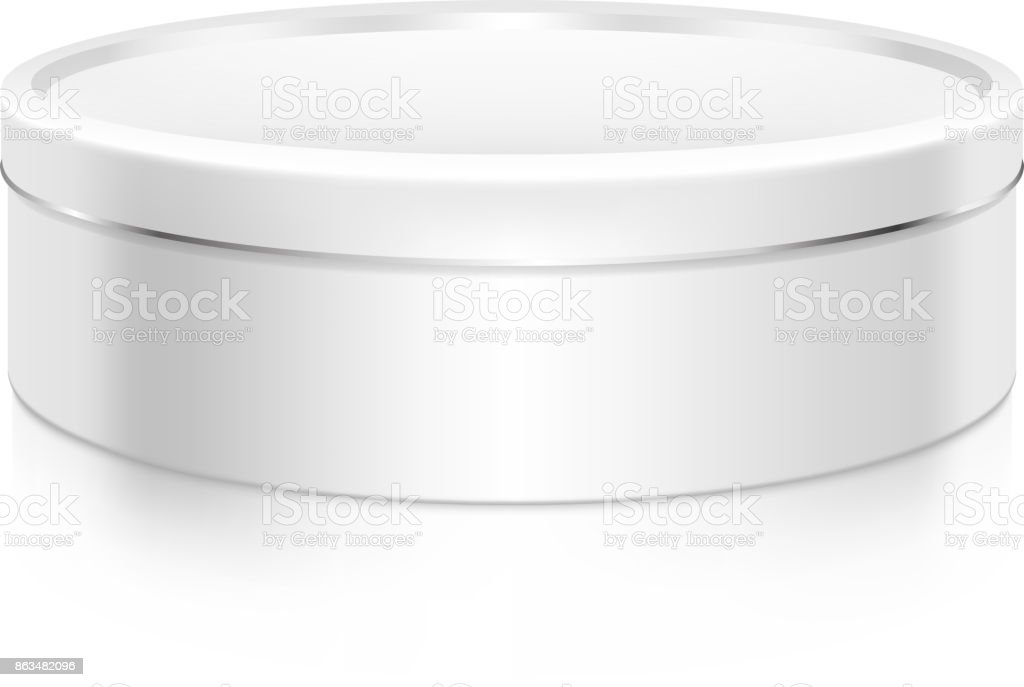 Cookie Tin Box Mockup Template Stock Vector Art & More Images of ...
