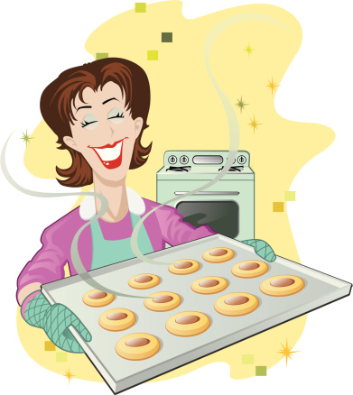 Cookie Tray Retro Revival Stock Illustration - Download Image Now