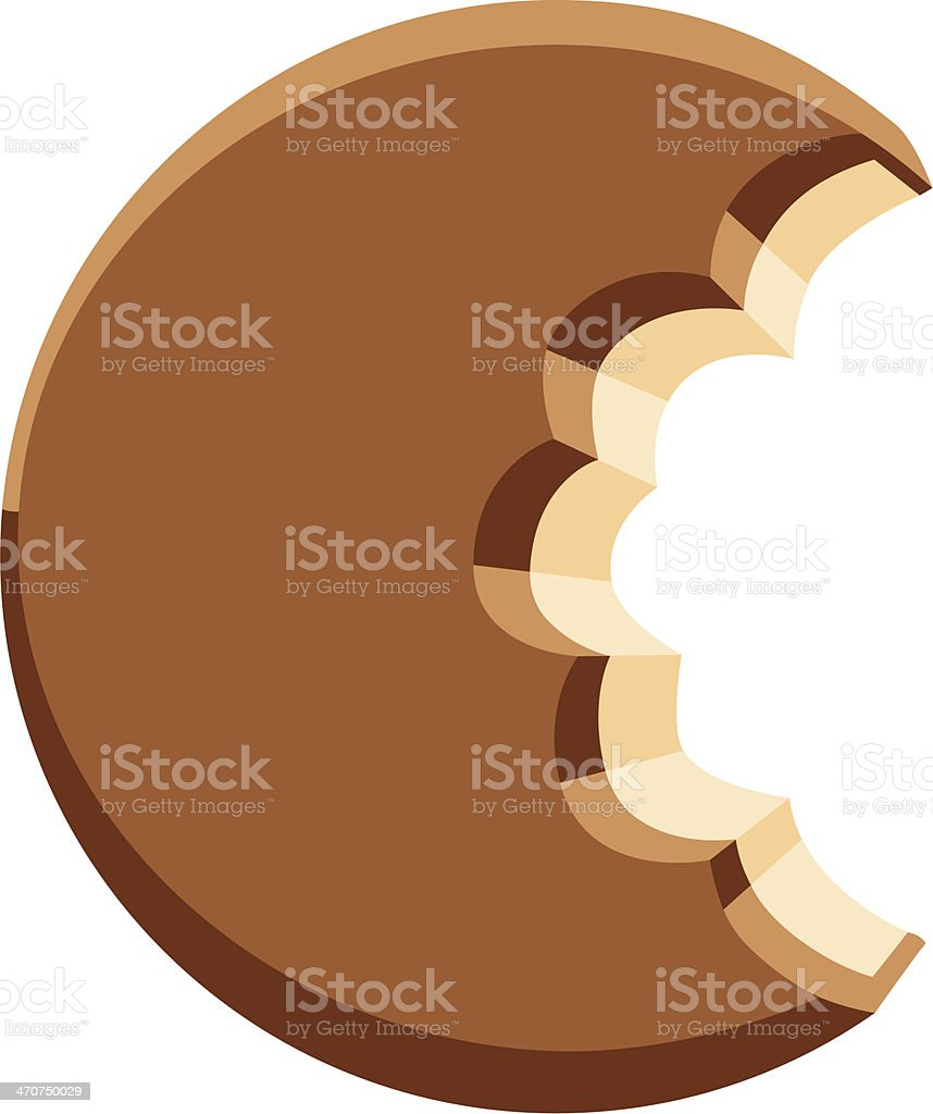 Cookie vector art illustration