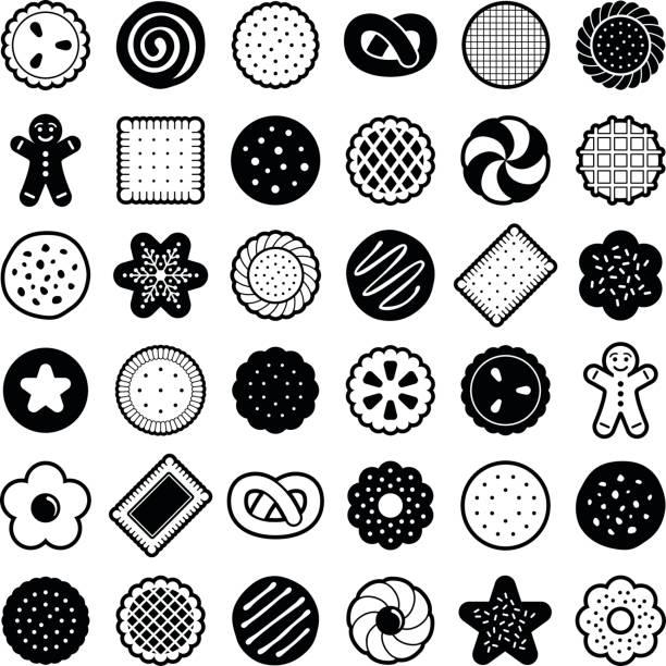 ilustrações de stock, clip art, desenhos animados e ícones de cookie - bolinho