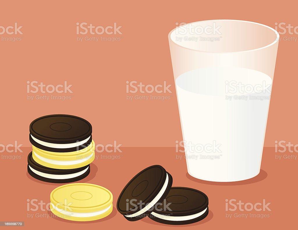 Cookies and Milk royalty-free stock vector art