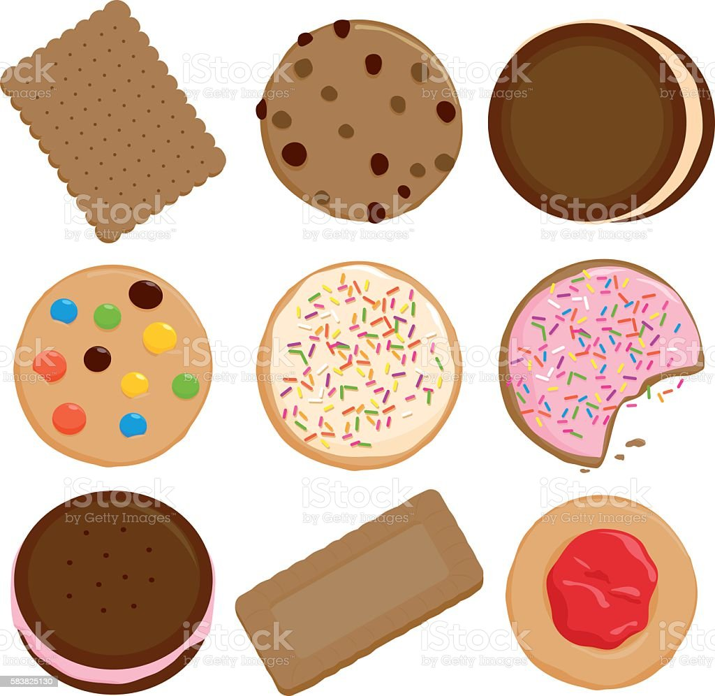 Cookies collection vector art illustration