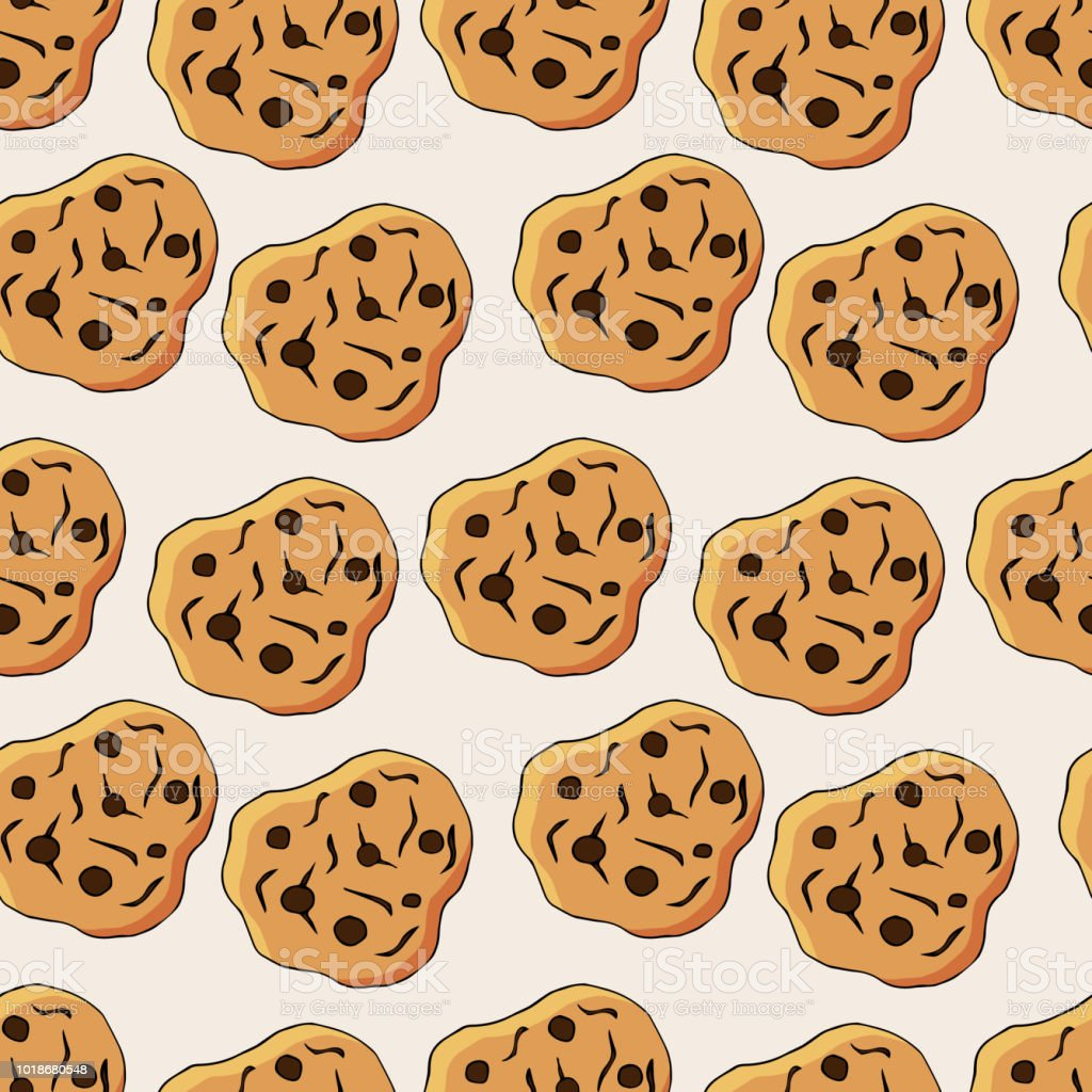 クッキーのシームレスなパターン描画した図形を手します子供たちの