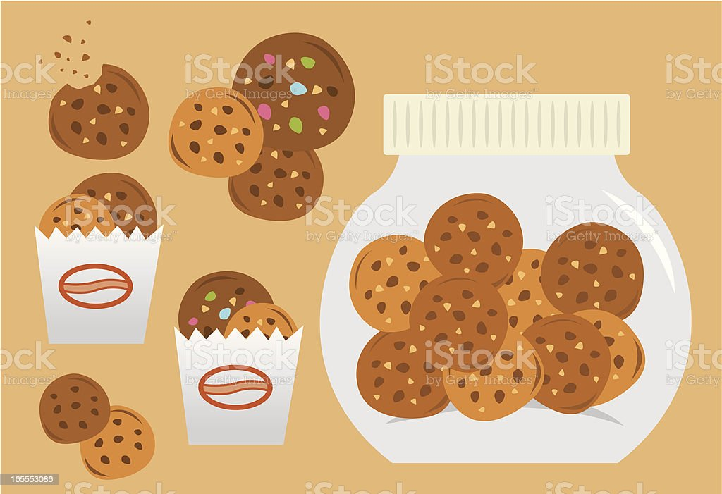 cookies sets vector art illustration