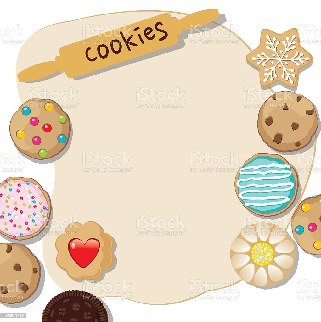 Cookies template vector art illustration