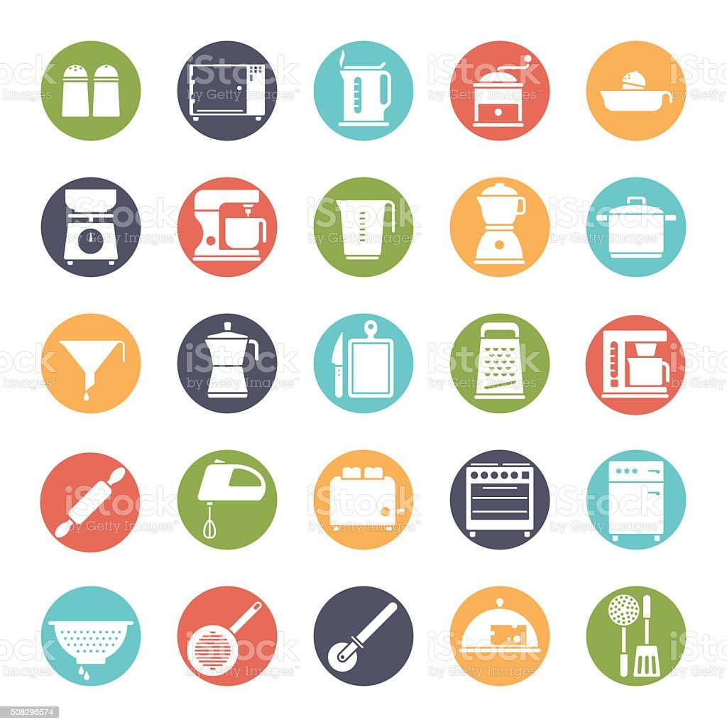Cooking and Kitchen Solid Vector Icon Collection vector art illustration