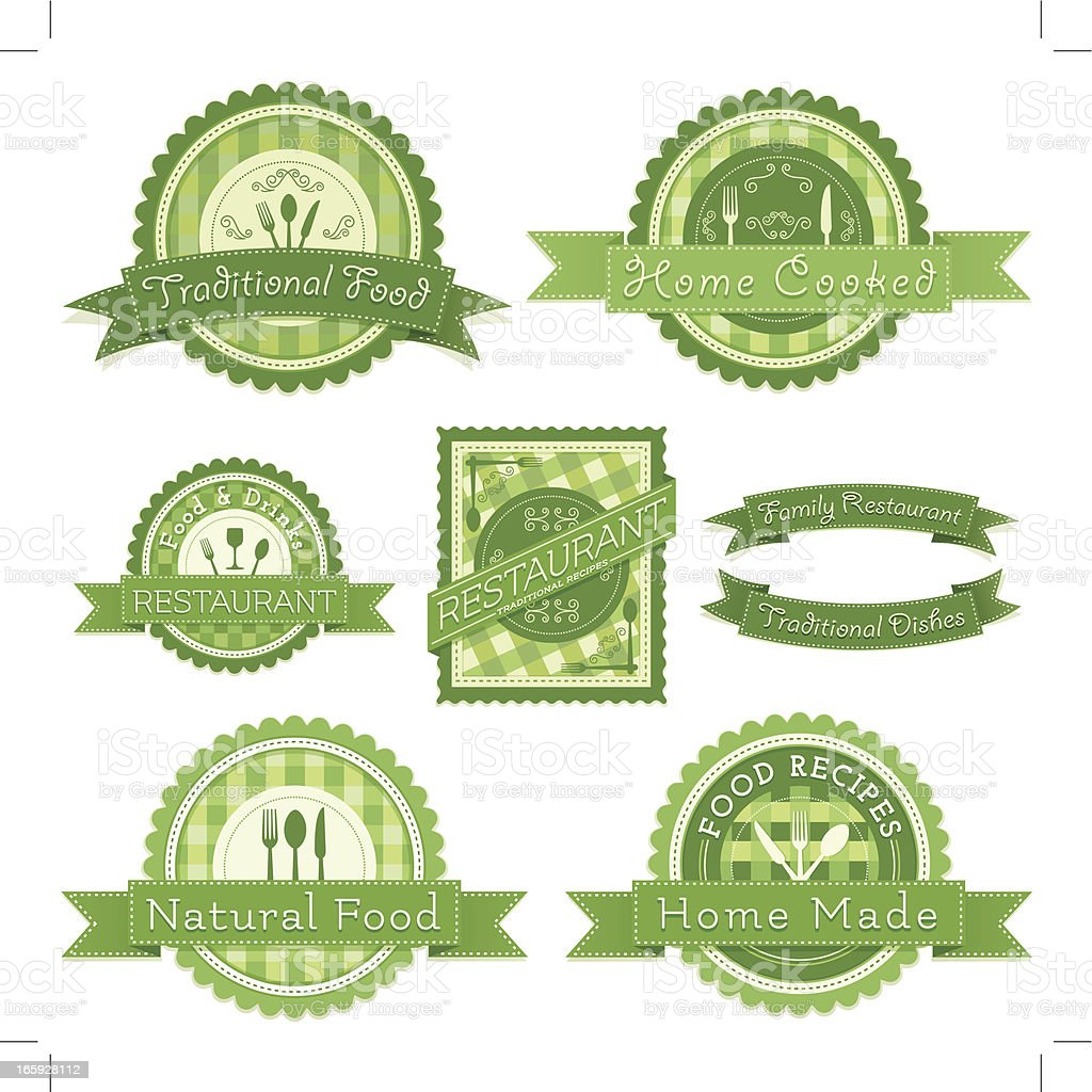 Cooking And Recipes Tags royalty-free stock vector art