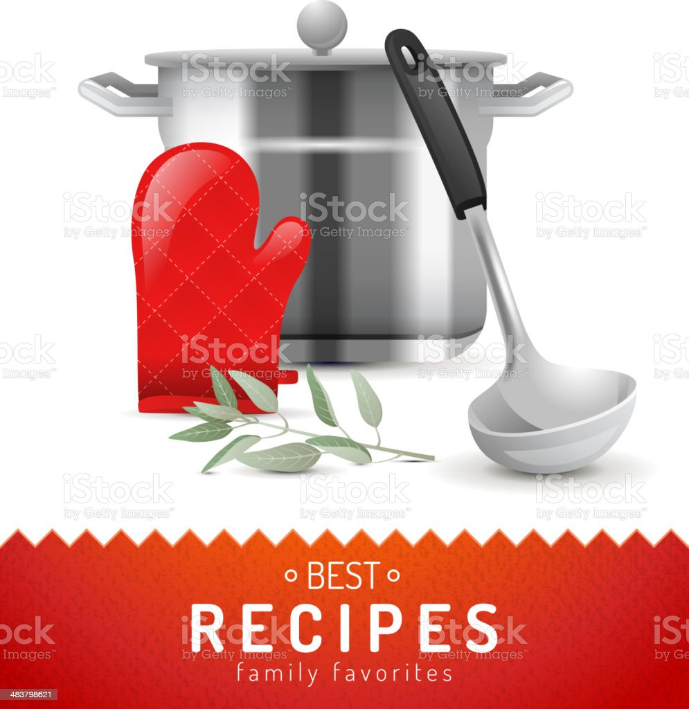 Cooking background vector art illustration