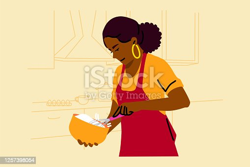 istock Cooking, baking, hobby, food, preparation concept 1257398054