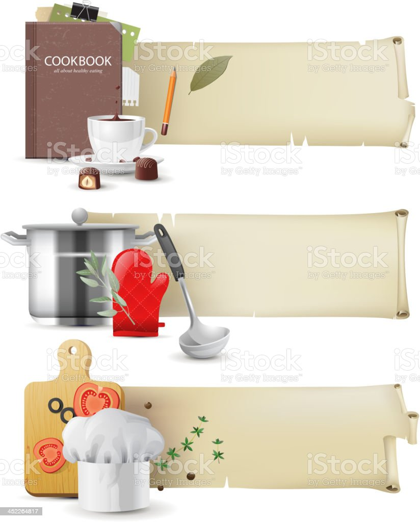 Cooking banners vector art illustration