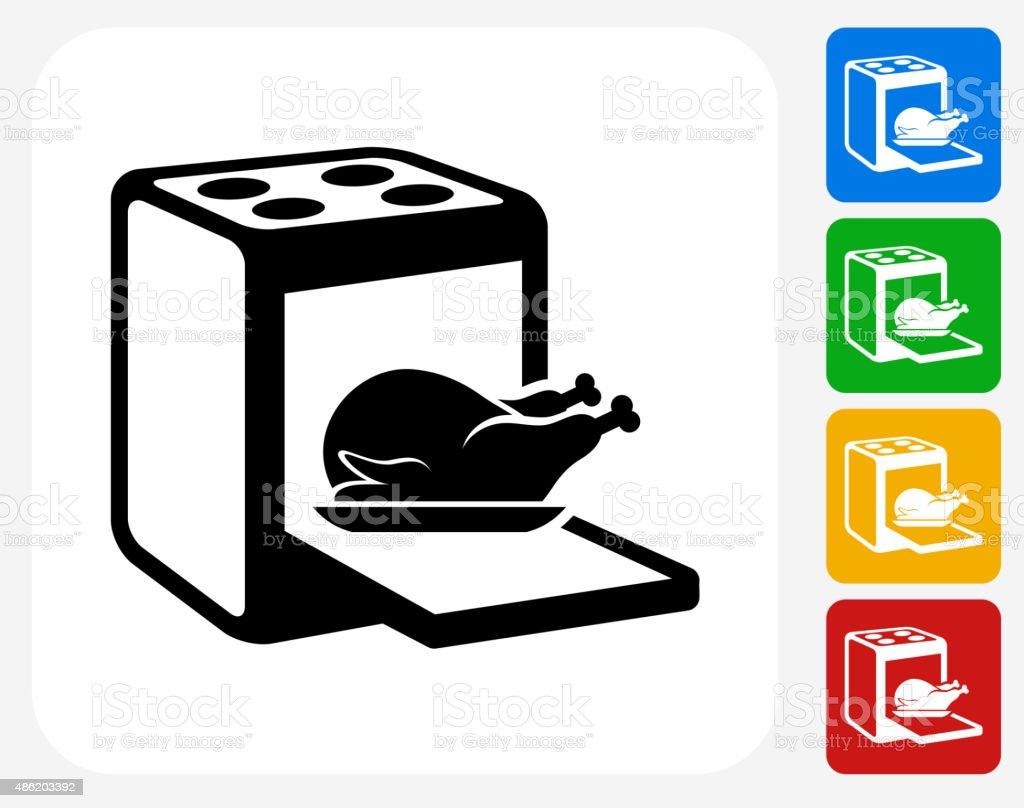 Cooking Bird Icon Flat Graphic Design vector art illustration