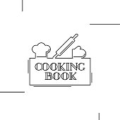 Cooking book cover design. Vector illustration.