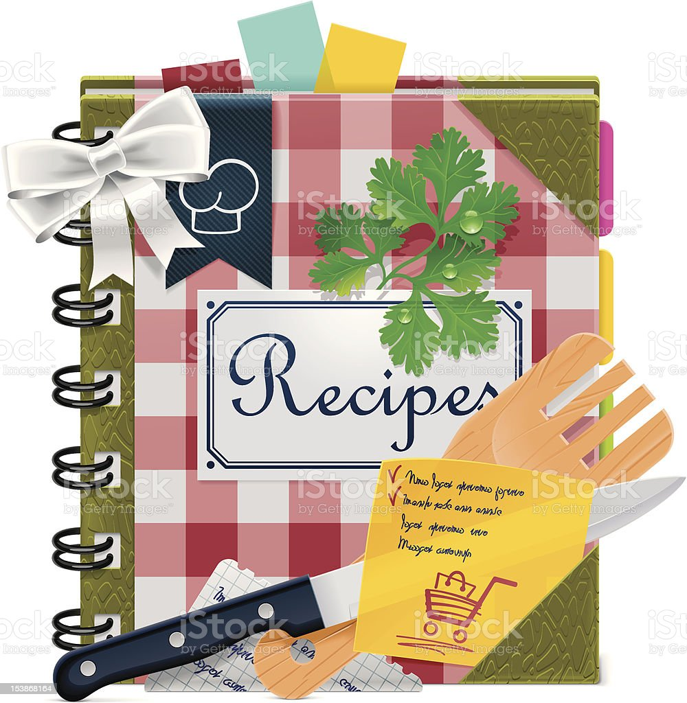 Cooking book icon vector art illustration