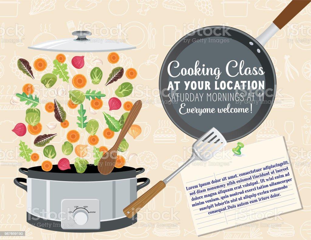 cooking class template stock illustration download image. Black Bedroom Furniture Sets. Home Design Ideas
