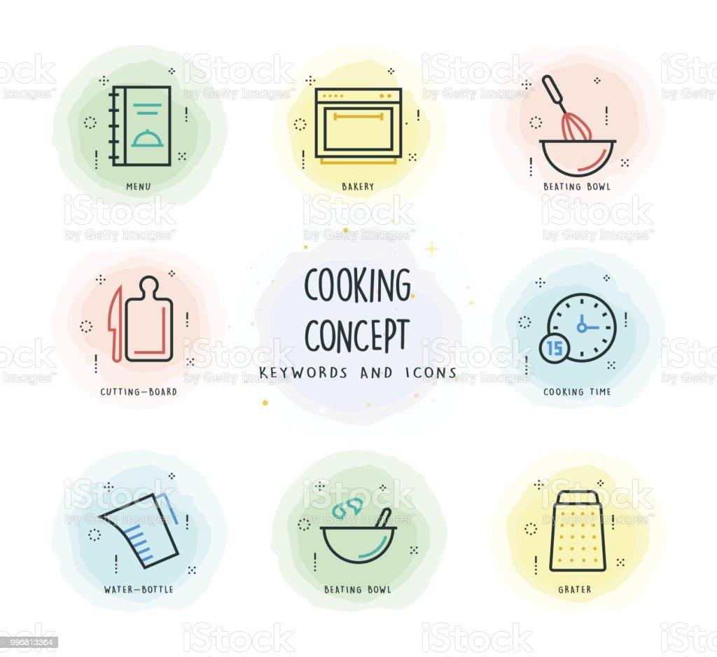 Concept de cuisine - Illustration vectorielle