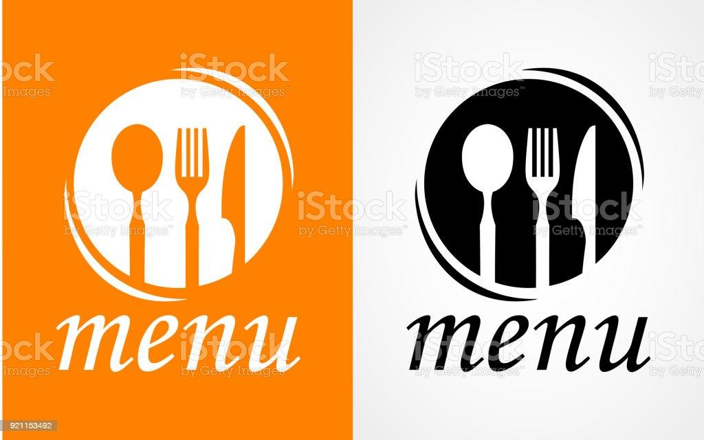 Cuisson, logo de la cuisine. Icône et l'étiquette pour conception menu restaurant ou un café. Lettrage, calligraphie vector illustration - Illustration vectorielle