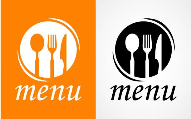 kochen und küche-logo. symbol und beschriftung für design-menü restaurant oder café. schriftzüge, kalligraphie vektor-illustration - nahrungsmittelindustrie stock-grafiken, -clipart, -cartoons und -symbole