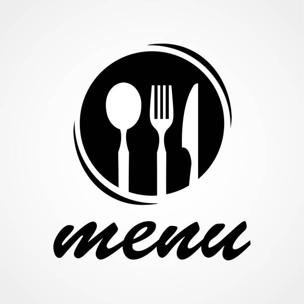 cooking, cuisine logo. icon and label for design menu restaurant or cafe. lettering, calligraphy vector illustration - delis stock illustrations