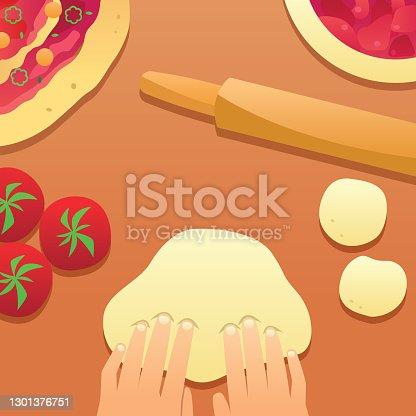 istock Cooking Flat Design 1301376751
