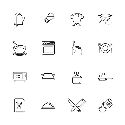 Cooking - Flat Vector Icons