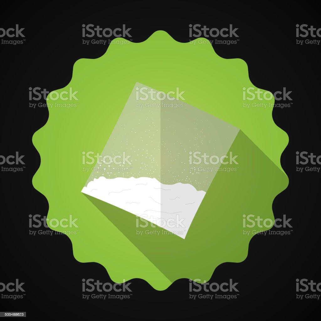 Cooking flour, Sugar, Cocaine Bag Bad Habit Flat icon vector vector art illustration