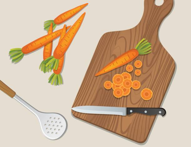 Cooking Food And Vegetables Backgrounds Cooking Food And Vegetables Backgrounds cutting board stock illustrations