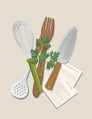 Cooking Food And Vegetables Backgrounds