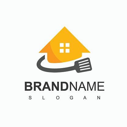 Cooking House, Restaurant Logo Design Template
