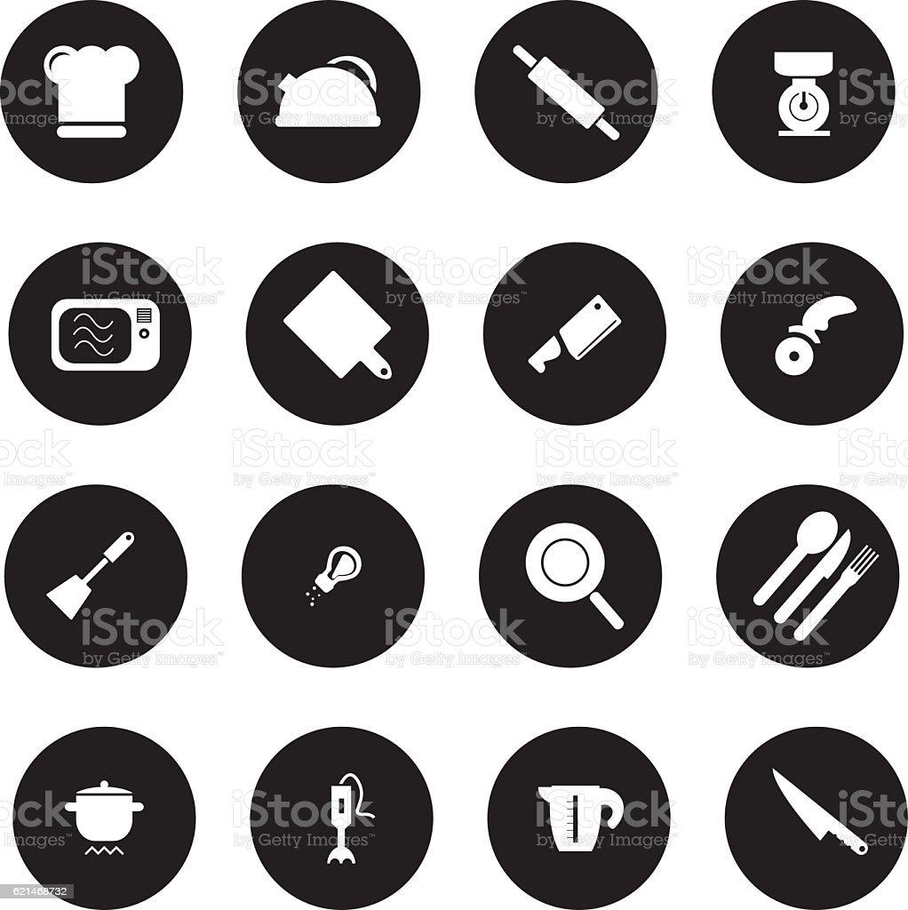 Cooking Icon Set vector art illustration