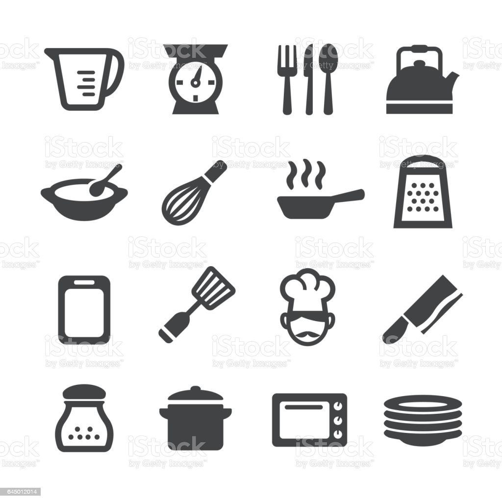 Cooking Icons - Acme Series vector art illustration