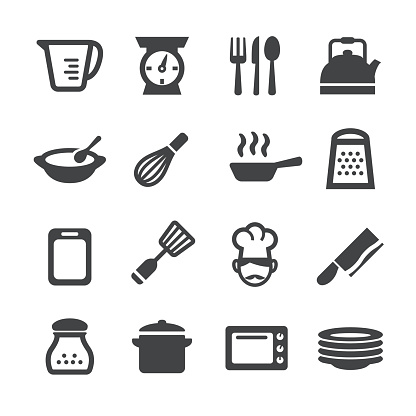 Cooking Icons Acme Series Stock Illustration - Download Image Now