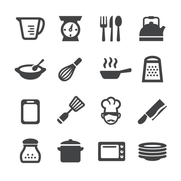 Cooking Icons - Acme Series Cooking Icons grater utensil stock illustrations