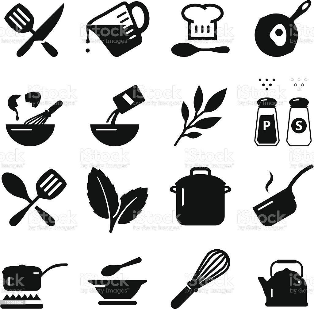 Cooking Icons - Black Series - 免版稅住宅廚房圖庫向量圖形
