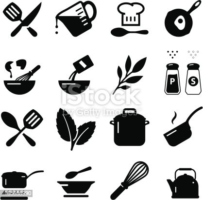 Cooking and baking icon set. Professional icons for your print project or Web site. See more in this series.