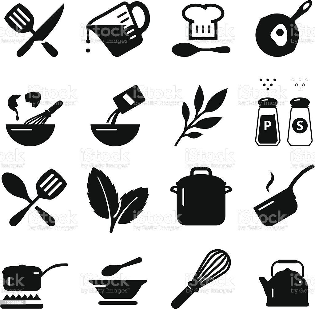 Cooking Icons - Black Series vector art illustration