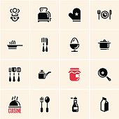 Cooking icons. Cuisine.