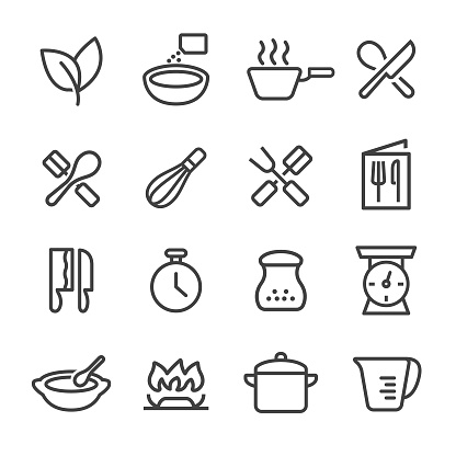 Cooking Icons - Line Series