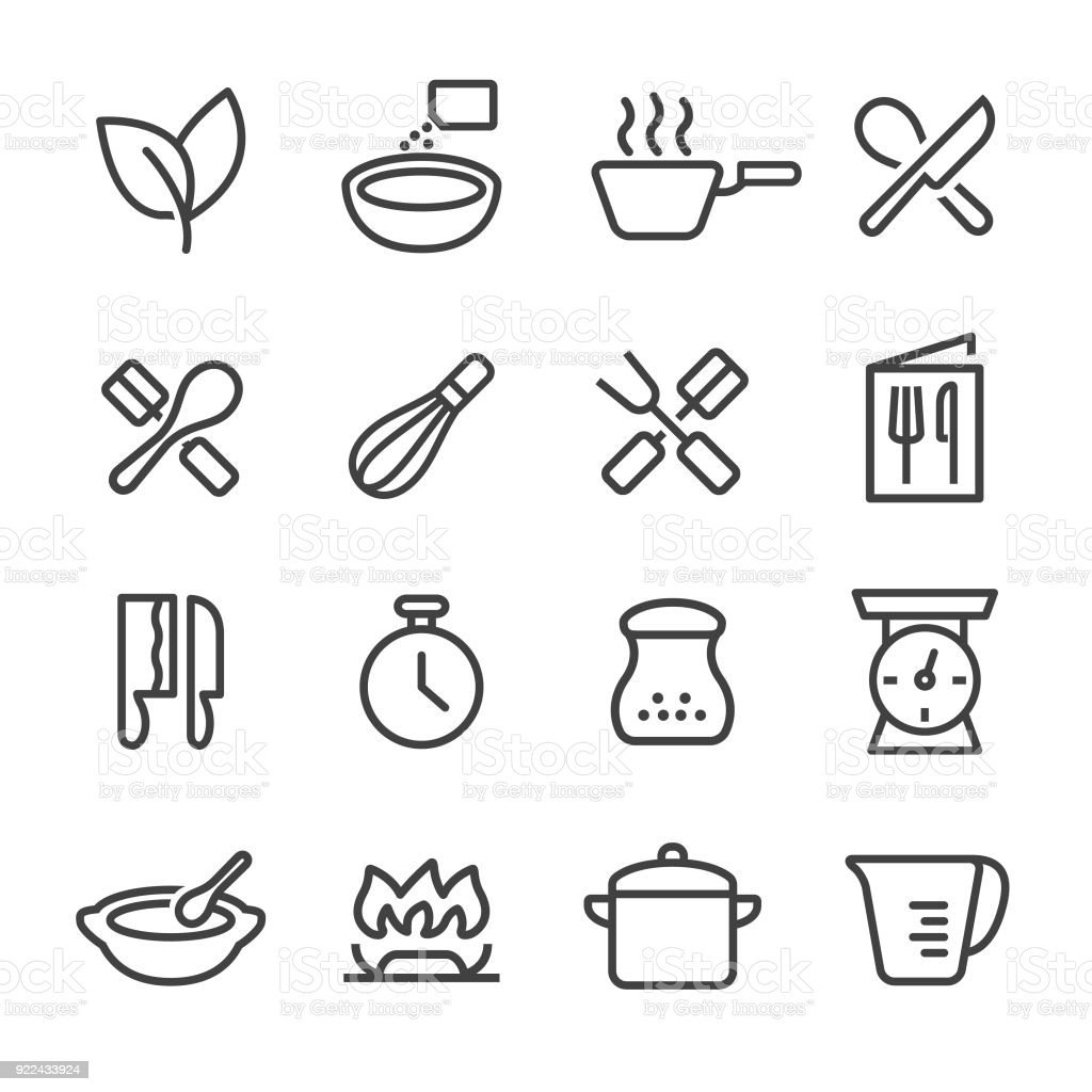 Cooking Icons - Line Series vector art illustration
